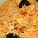 Salata de telina, morcov si piept de pui