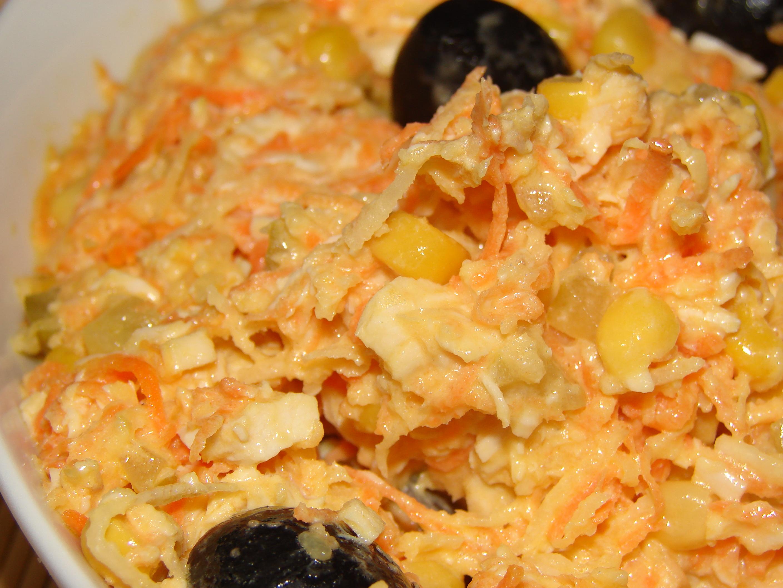 Salata de telina morcov si piept de pui