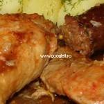 Friptura mixta (pui cu porc)