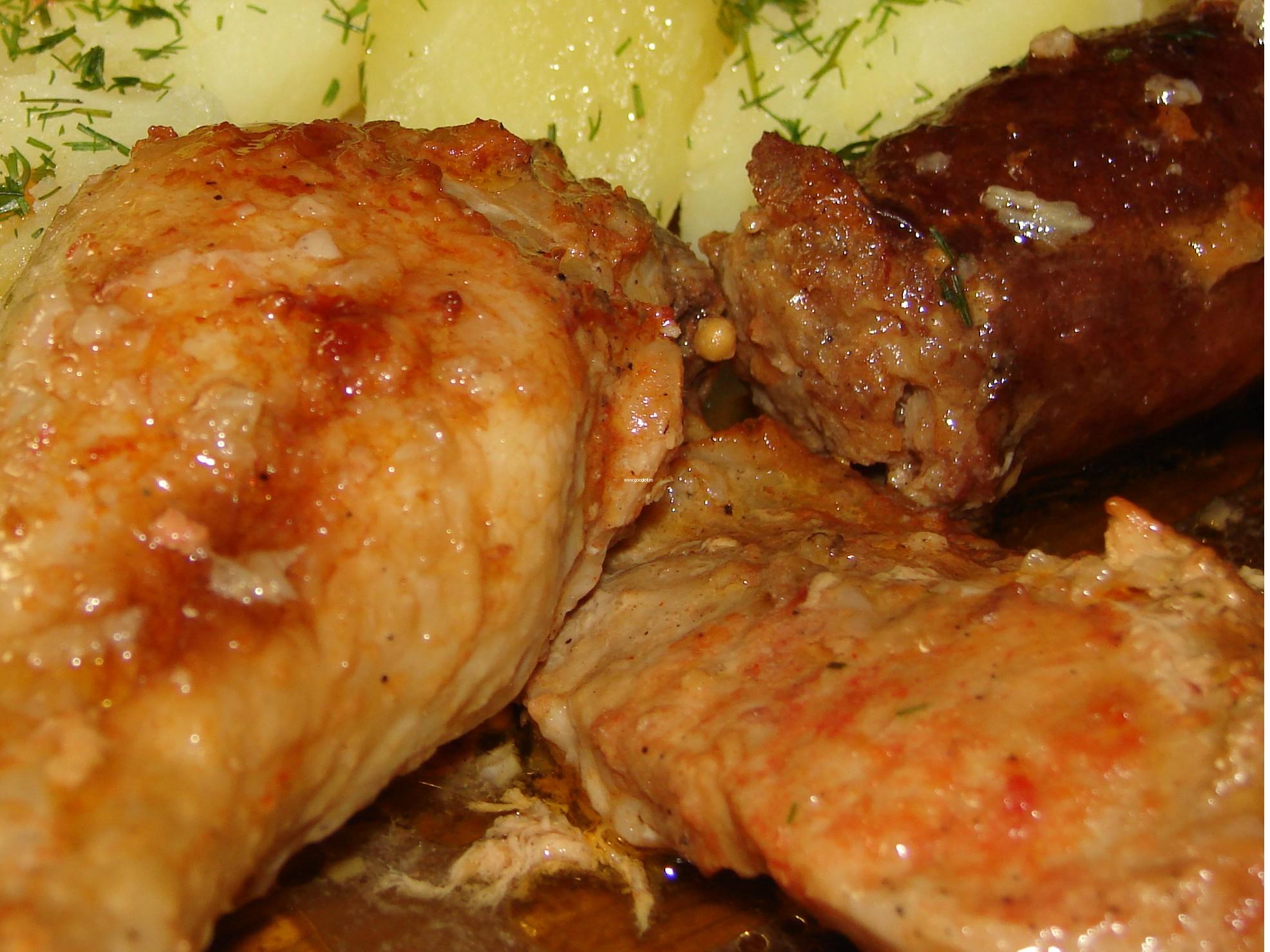 Friptura mixta (porc cu pui)